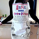 Mothers Day 'Home Made With Love' Personalised Apron