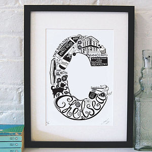 Best Of Chelsea Screenprint - prints for christmas