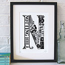 Best Of Notting Hill Screenprint