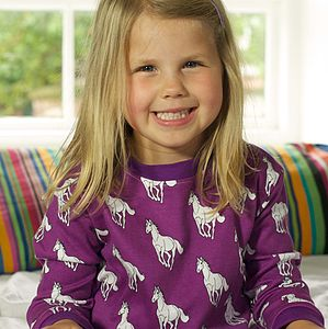 Organic Coco The Horse Print Pyjamas - children's nightwear