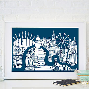 London Music Screen Print
