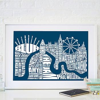 London Music Screen Print
