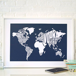 Booze Of The World Print - vibrant blues