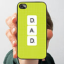 Personalised Letter Tile Case For iPhone