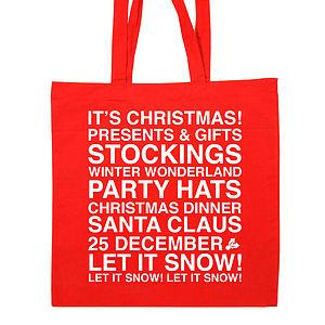 Christmas Present Cotton Tote Bag
