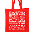 Christmas Present Cotton Tote Bag