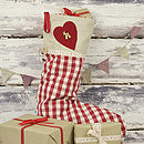 Gingham Christmas Stocking