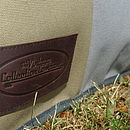 Waterproof canvas cushion leather patch