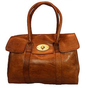 Herbert Classic Leather Tote Bag - bags & purses