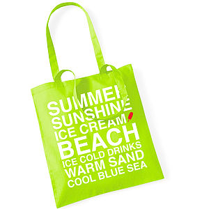 Summer Beach Cotton Tote Bag