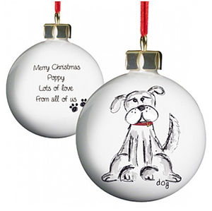 Personalised Pet Bauble Decoration - pets