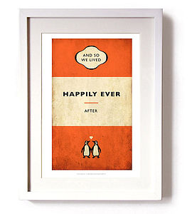 'And So We Lived Happily Ever After' Print - posters & prints