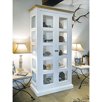 French Country Two Door Glazed Display Unit