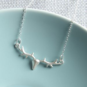 Silver Antlers Necklace - women's jewellery