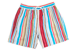 Men's Beach Striped Swim Shorts - swimwear