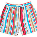 Men's Beach Striped Swim Shorts