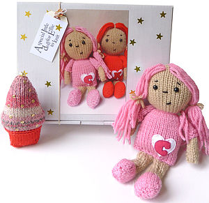 Personalised Dolly Knitting Kit - knitting kits