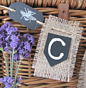 Personalised Hessian Wedding Cards Bunting