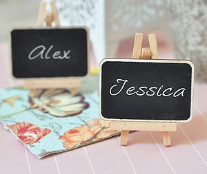 Set Of Three Chalkboard Place Cards - place card holders