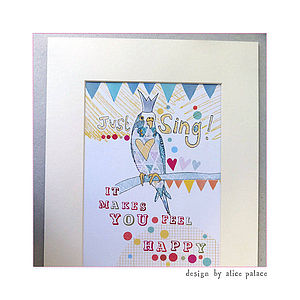 Personalised 'Just Sing' Print