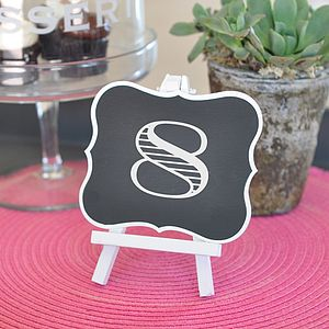 Framed Chalkboard Table Easel - table decorations