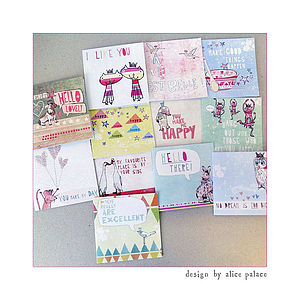 A Set Of 12 'Feel Good' Greeting Cards