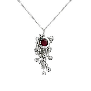Silver Ruby Drop Necklace - necklaces & pendants