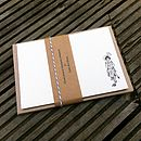 Set Of Eight Retro Letterpress Note Cards
