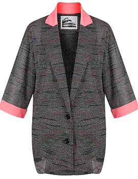Ellie Neon And Grey Boyfriend Blazer