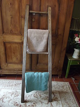 Reclaimed Wooden Towel Ladder