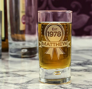 Personalised Engraved Shot Glass - kitchen