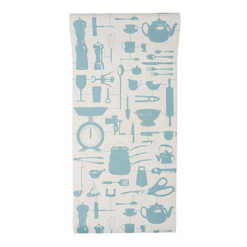 Airfix Kitchen Wallpaper Duck Egg