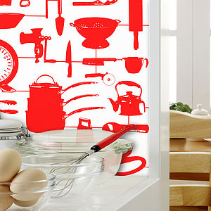 Airfix Kitchen Wallpaper Red - wallpaper