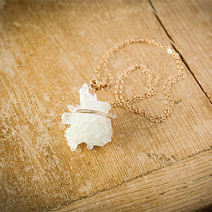 Vanilla Quartz Druzy Necklace - necklaces & pendants