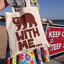 Bear Tote Bag 'Bear With Me'