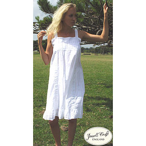 Camilla Embroidered Cotton Nightdress - women's fashion