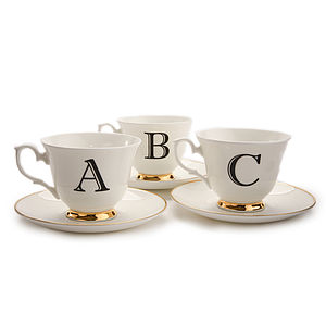 Alphabet Teacup And Saucer - kitchen