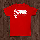 Personalised Name And Message T Shirt