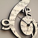 Treble Clef Vintage Music Clock