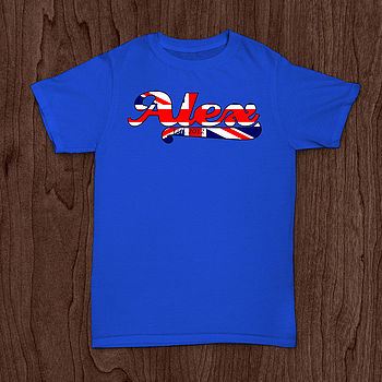 Personalised Union Jack T Shirt