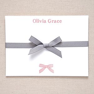 Personalised Bow Correspondence Cards