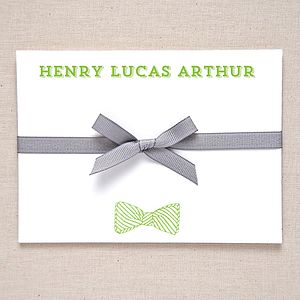 Personalised Bow Tie Correspondence Cards - notelets