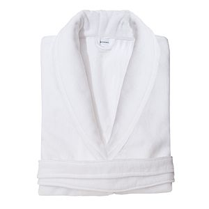 Luxury White Velour Dressing Gown - lingerie & nightwear
