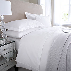 Eqyptian Cotton White Duvet Cover - bed linen