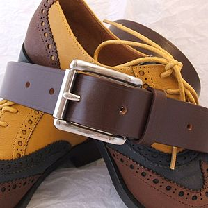 Handmade Bravo English Leather Belt - women's accessories