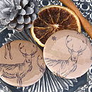 Christmas Stag Pocket Mirror Stocking Filler