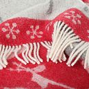 Festive Moose Wool Throw