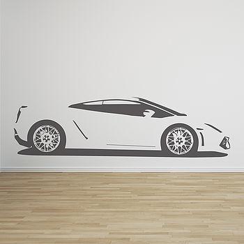 Gallardo Sports Car Vinyl Wall Sticker