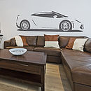 Gallardo Sports Car Vinyl Wall Sticker