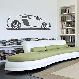 R8 Sports Car Vinyl Wall Sticker - children's room